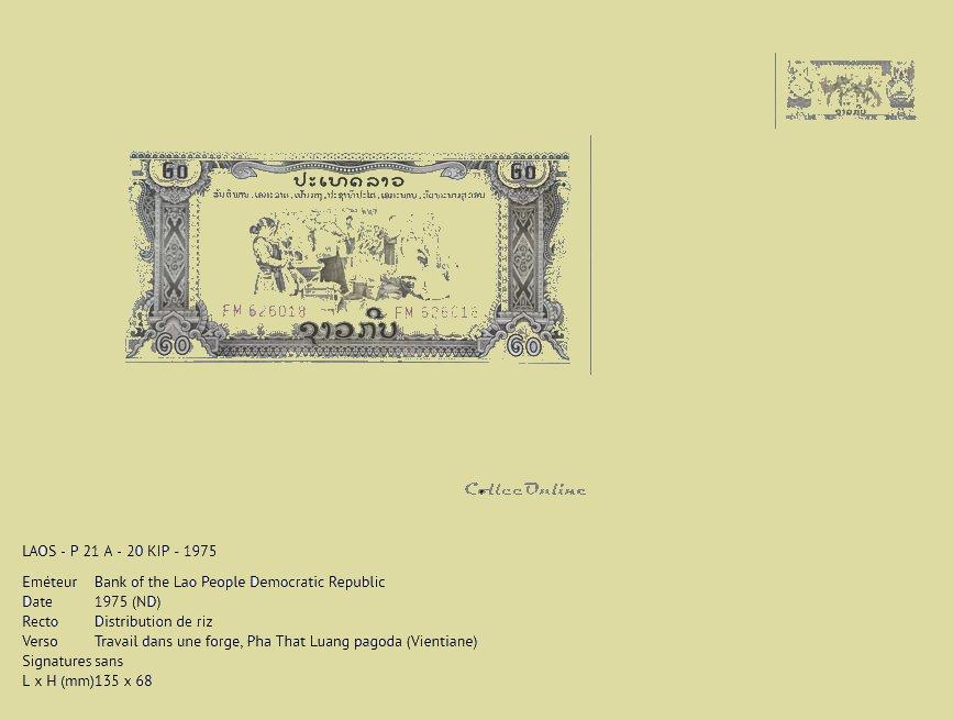 Capture billet laos 1976